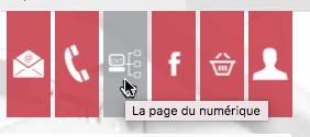 """Icône avec tooltip """"La page du numérique"""""""